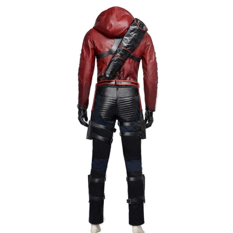 xcoser-de,Halloween Cosplay Red Arrow Roy Harper PU Costume,Costumes