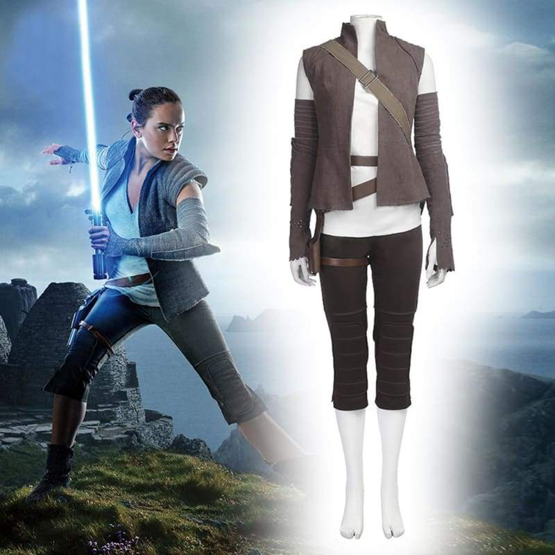 xcoser-de,Halloween Cosplay Star Wars The Last Jedi Rey Kostüm,Kostüm