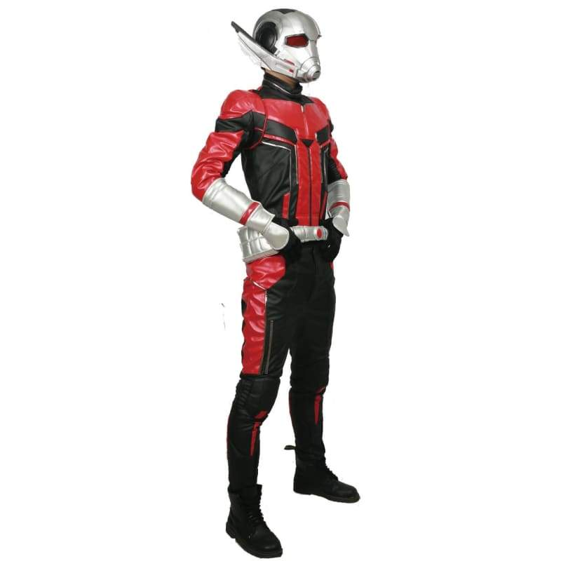 xcoser-de,Halloween Cosplay XCOSER Ant-Man Cosplay Ant-Man Superhero Full Set Costume PU With Wristguard & Belt Acceoosry,Costumes