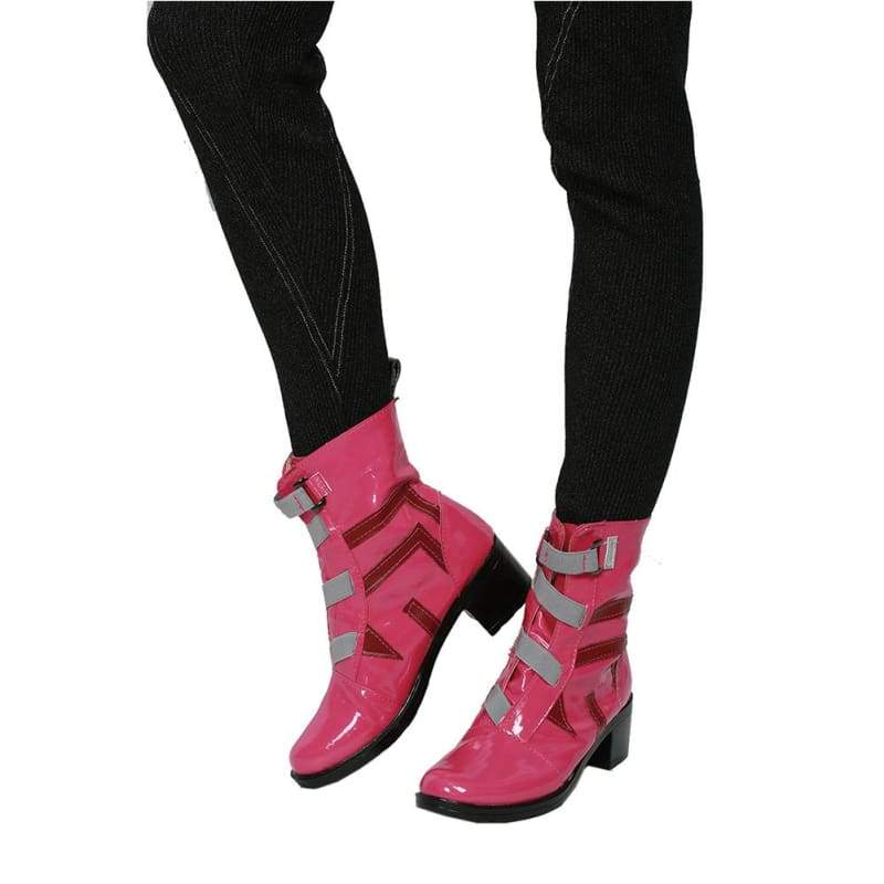 xcoser-de,Halloween Cosplay XCOSER ARMS Spiel Cosplay Ribbon Girl  hohe PU Stiefel,Stiefel