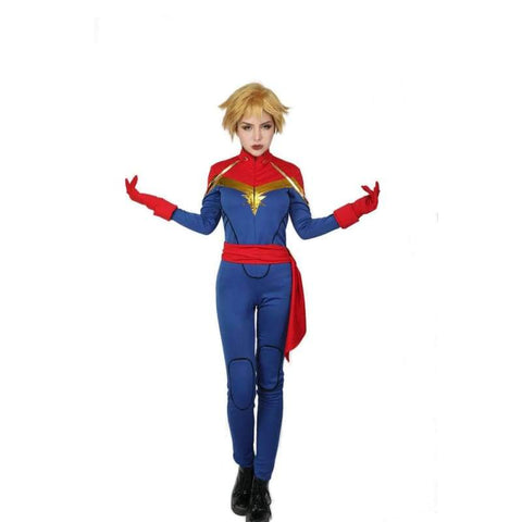 xcoser-de - Halloween Cosplay XCOSER Marvel Comics Cosplay Captain Marvel Costume - Costumes - Xcoser Shop