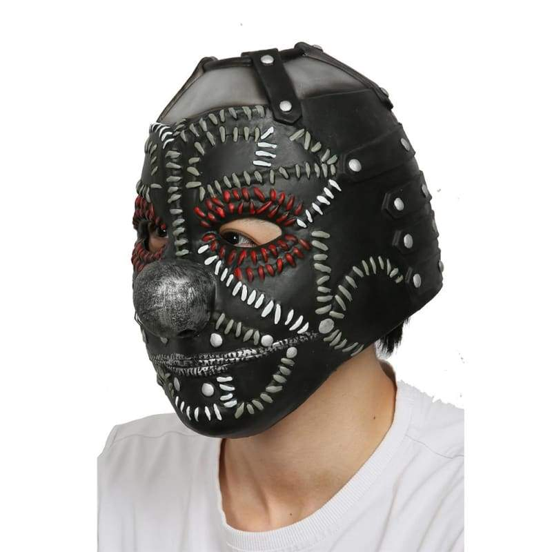 xcoser-de,Halloween Cosplay XCOSER Slipknot Rock & Roll Band Cosplay Shawn Crahan Fullhead Mask,Helmet