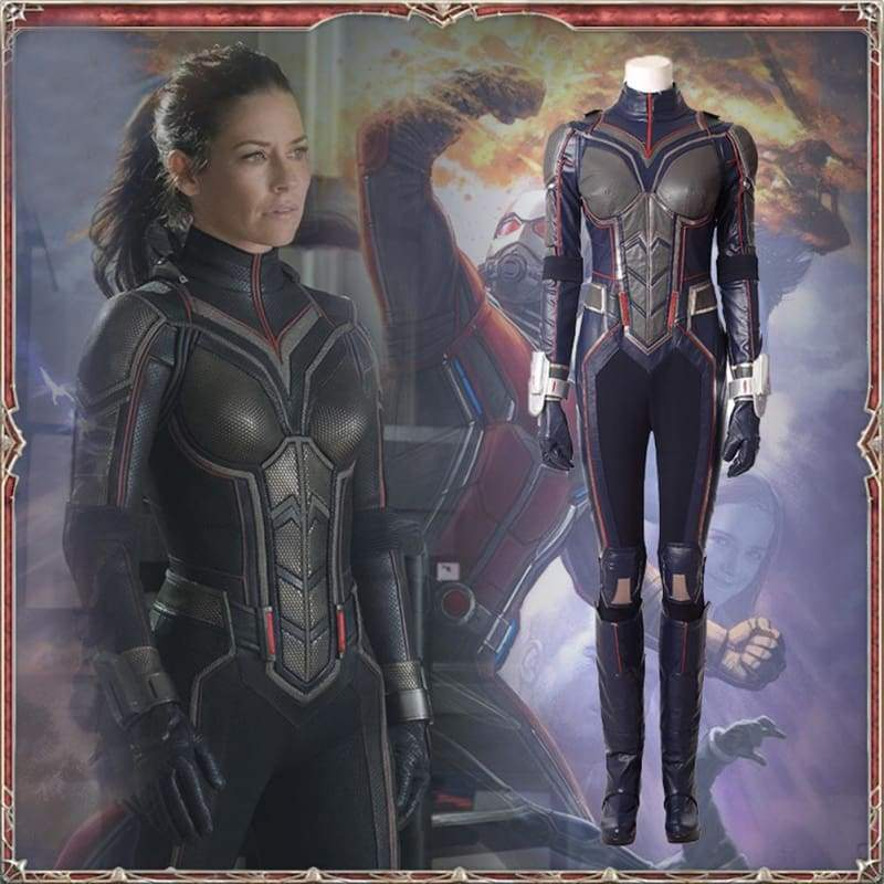 xcoser-de,Halloween Updated Ant-Man 2 Wasp Sliver Cosplay Costume,Costumes