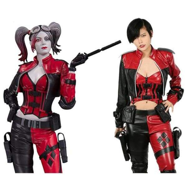 xcoser-de,Harley Quinn Costume Injustice 2 Cosplay,Costumes
