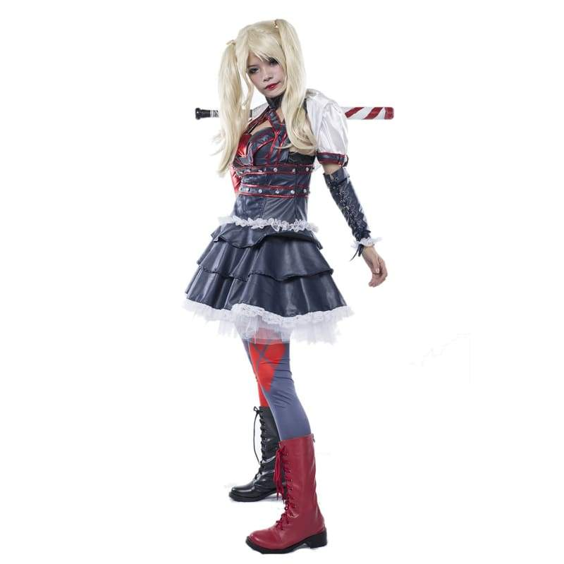 xcoser-de,Harley Quinn Outfit Batman Arkham City Harley Quinn Costume Cosplay,Costumes