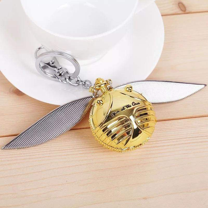 xcoser-de,Harry Potter Golden Snitch Time-Turner Necklace Keychain Cosplay Accessory,Others