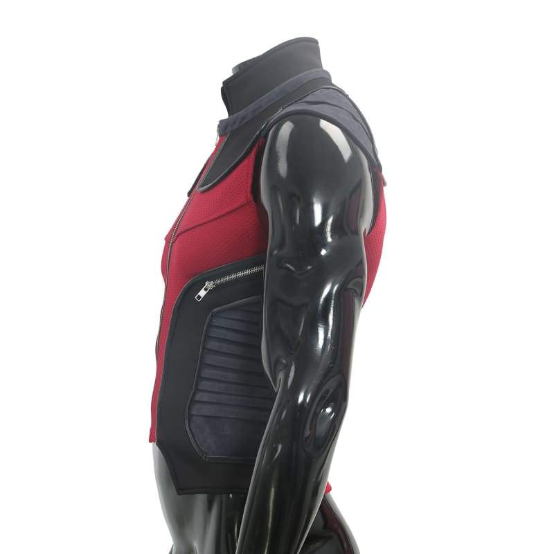 xcoser-de,Hawkeye Waistcoat The Avengers Cosplay Costume Red Black PU Vest For Men,Costumes