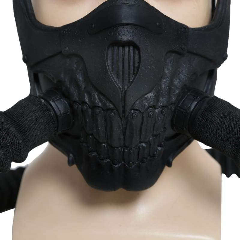xcoser-de,Immortan Joe Maske Mad Max 4 Fury Road Cosplay cool PVC halbes Gesicht Gas Maske DIY Version,Maske