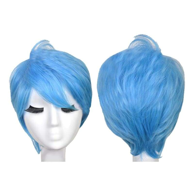 xcoser-de,Inside Out Joy Wig Disney Movie Cosplay Short Straight Light Blue Joy Costume Wig For Adults,Wigs
