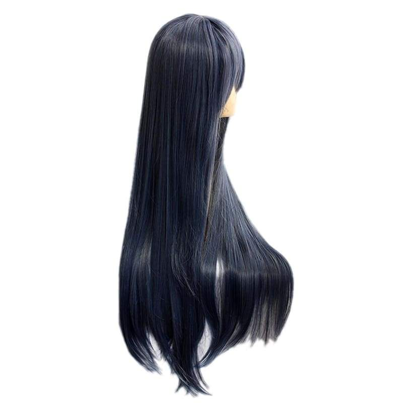 xcoser-de,Jiroutachi Wig Touken Ranbu Jiroutachi Cosplay Long Straight Blue Gray Wig,Wigs