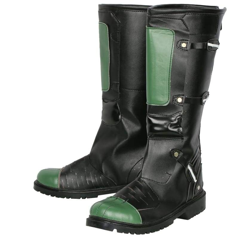 xcoser-de,Judge Dredd Cosplay PU Leather Boots,Boots