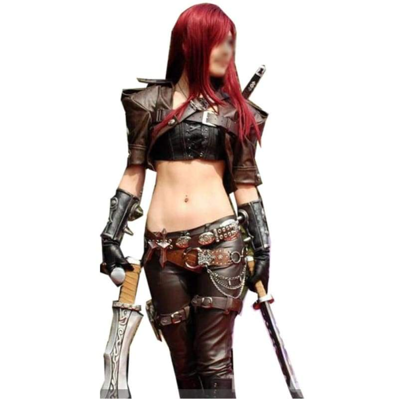 xcoser-de,Katarina Cosplay League of Legends Katarina Costume,Costumes