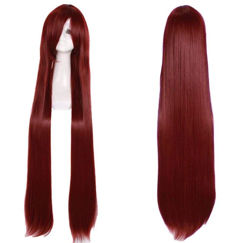 xcoser-de,Katarina Wig League of Legends Katarina Cosplay 100cm Long Straight Wine Red Wig,Wigs