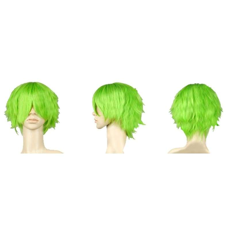 xcoser-de,Keimi Wig One Piece Keimi Cosplay Short Green Synthetic Anime Wig,Wigs