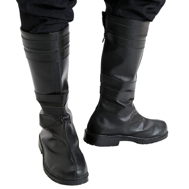xcoser-de,Kylo Ren Stiefel Deluxe Cosplay Erwachsene Schwarz PU Stiefel Star Wars The Force Awakens Kostüm Accessories,Stiefel