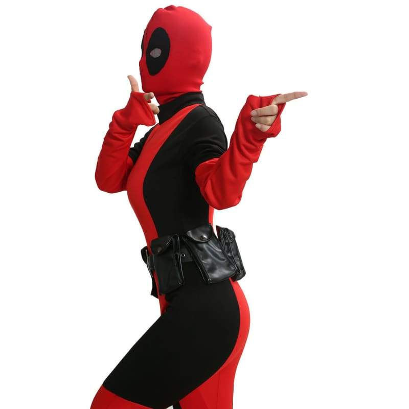 xcoser-de,Lady Deadpool Costume Adult Spandex Lycra Zentai Suit for Women Custom Made,Costumes