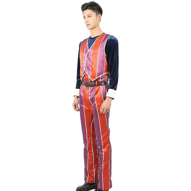 xcoser-de,Lazy Town Robbie Rotten Cosplay Costume Dacron Fabric Orange Outfit Custom-made,Costumes