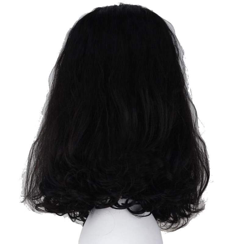 xcoser-de,Loki Wig The Avengers Loki Cosplay Short Black Curly Wig with Free Wig Cap,Wigs