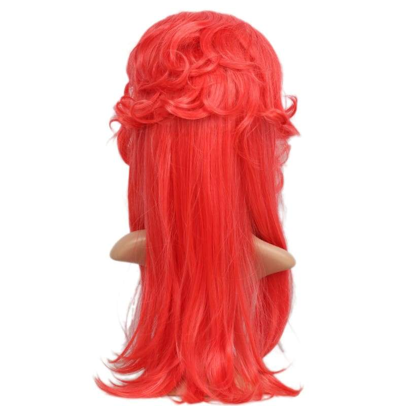 xcoser-de,Marvel Comics Inhumans Medusa Wig Red Slightly Curled Long Hair Medusa Cosplay Props,Wigs