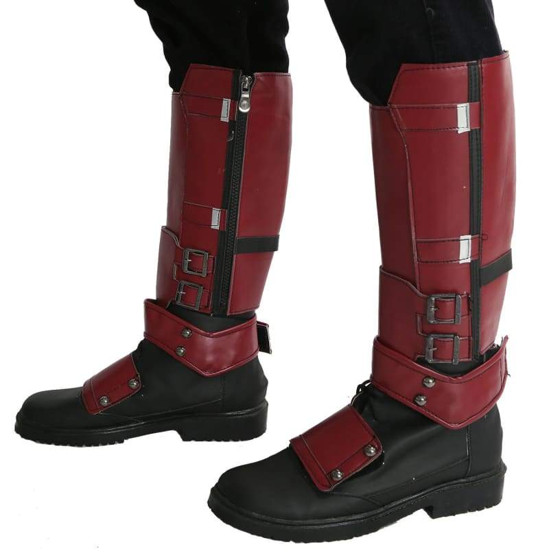 xcoser-de,Marvel Movie Cosplay PU Adult Deadpool Shoes,Boots