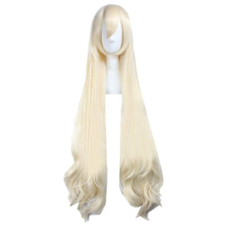 xcoser-de,Mary Kozakura Wig Kagerou Project Anime Cosplay Long Wavy Creamy White Hair,Wigs