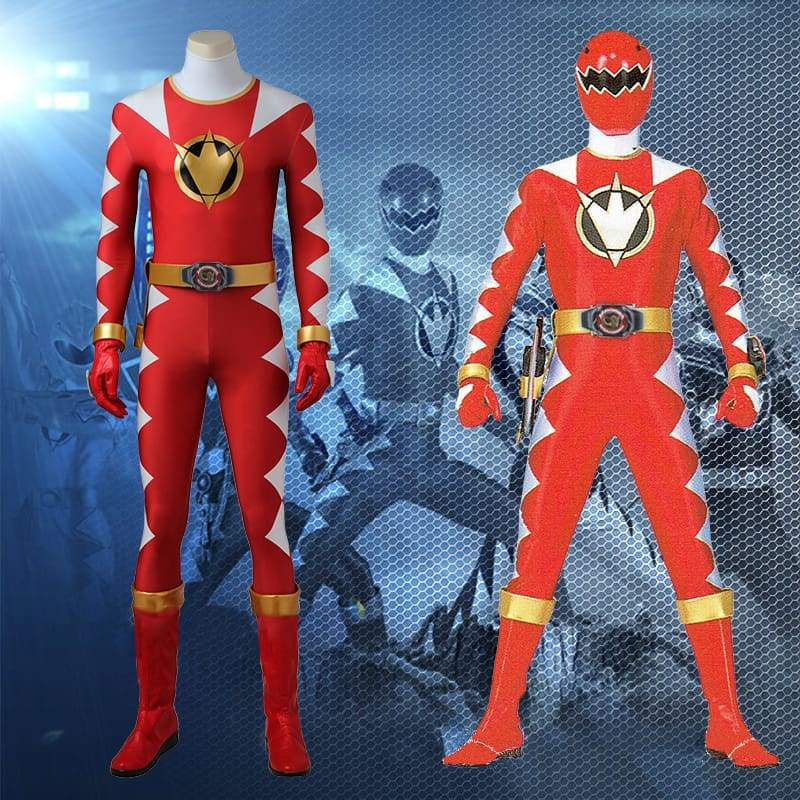 Mighty Morphin Power Rangers Red Ranger Cosplay Costume - without Boots - 1