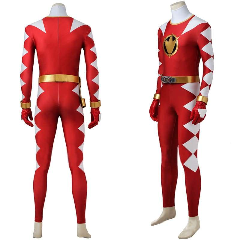 Mighty Morphin Power Rangers Red Ranger Cosplay Costume - without Boots - 2