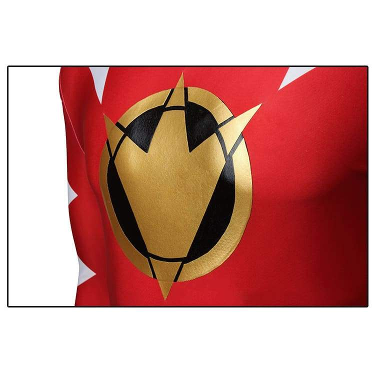 Mighty Morphin Power Rangers Red Ranger Cosplay Costume - without Boots - 6