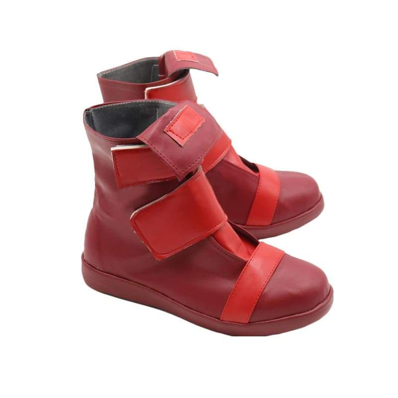 xcoser-de,My Hero Academia Eijirou Kirishima Boots Cosplay Shoes for Parties Red PU Leather,Boots