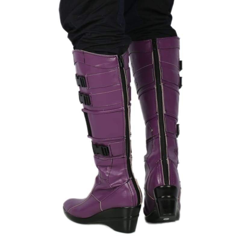 xcoser-de,Nebula Boots Deluxe Purple PU Leather Knee-high Boots Guardians of the Galaxy Vol. 2 Nebula Cosplay Shoes,Boots