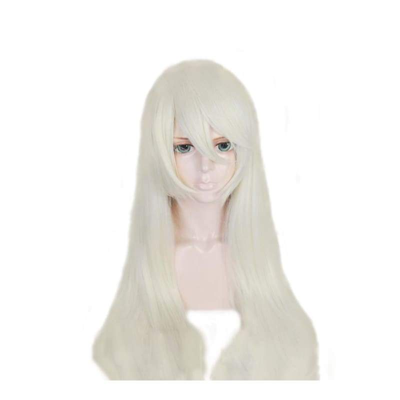 xcoser-de,NieR:Automata 2A Wig White Waist-deep High Temperature Silk Cosplay Wig,Wigs