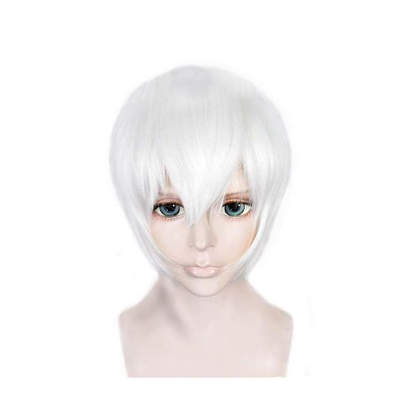 xcoser-de,NieR:Automata 9S Wig White High Temperature Silk Short Cosplay Wig,Wigs