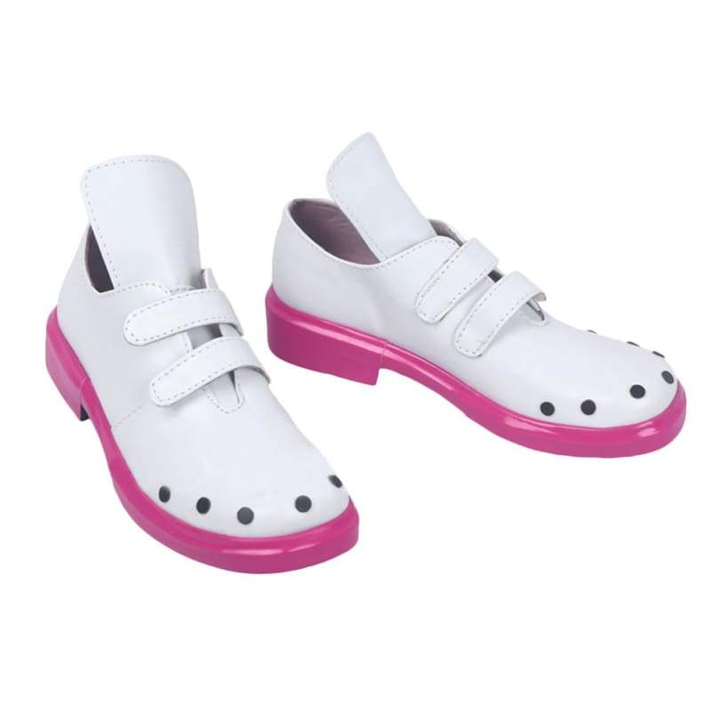xcoser-de,NND Compass Megumegu Cosplay Shoes for Parties White and Pink PU Leather,Boots