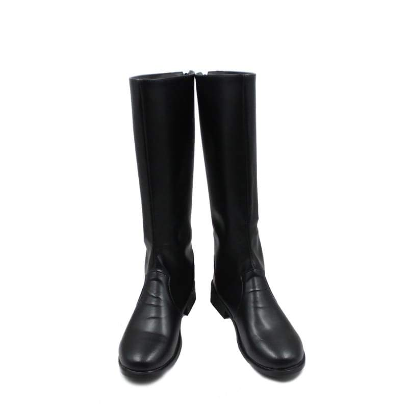 xcoser-de,One Piece Sabo Black PU Knee-high Boots Riding Boots Sabo Cosplay Shoes,Boots
