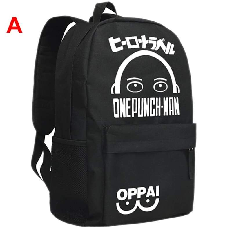 xcoser-de,One-Punch Man Backpack One Punch Man Oppai Backpack Black Canvas Teens School Bag,Others