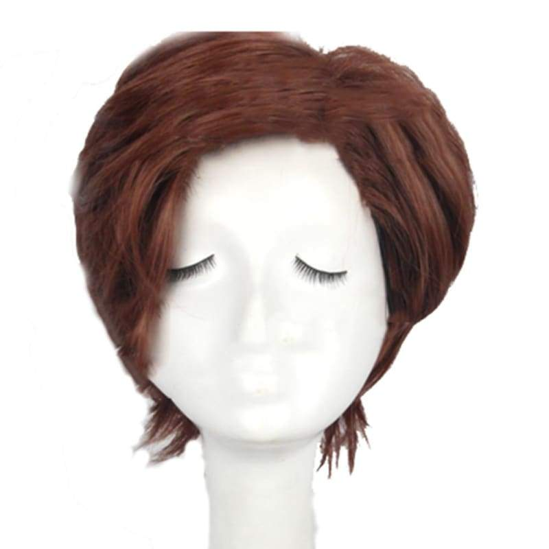 xcoser-de,Remy LeBeau Cosplay Wig Short Brown Hair Gambit Cosplay Props,Wigs