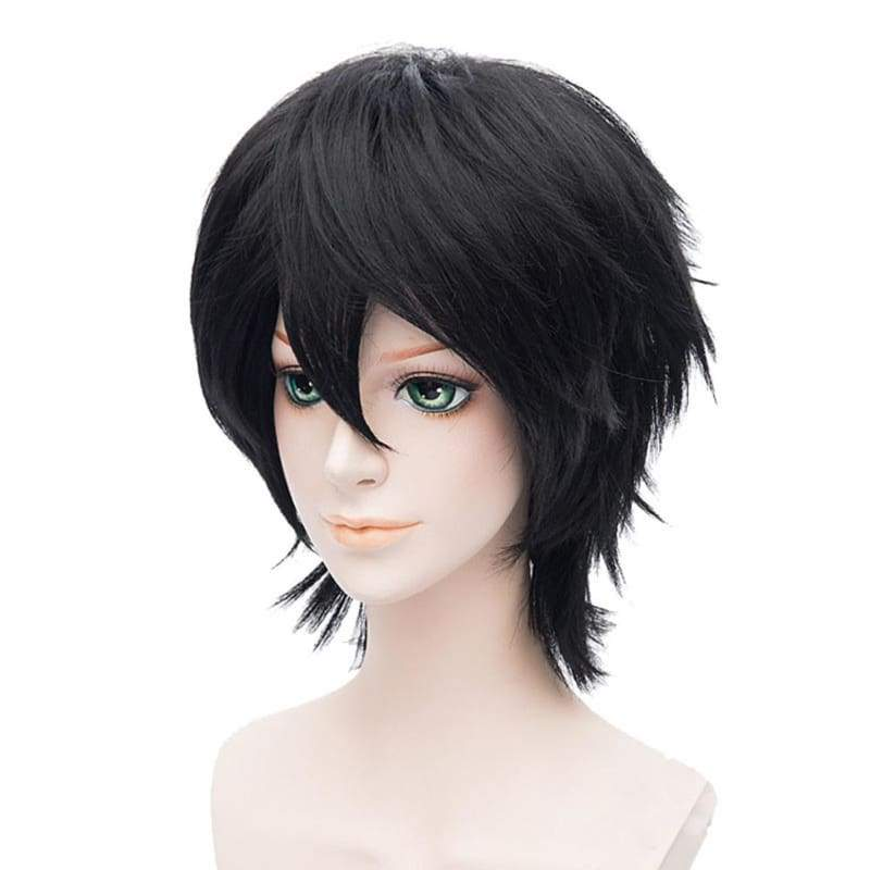 xcoser-de,Rin Okumura Wig Blue Exorcist Rin Cosplay Universal Short Black Anime Wig,Wigs