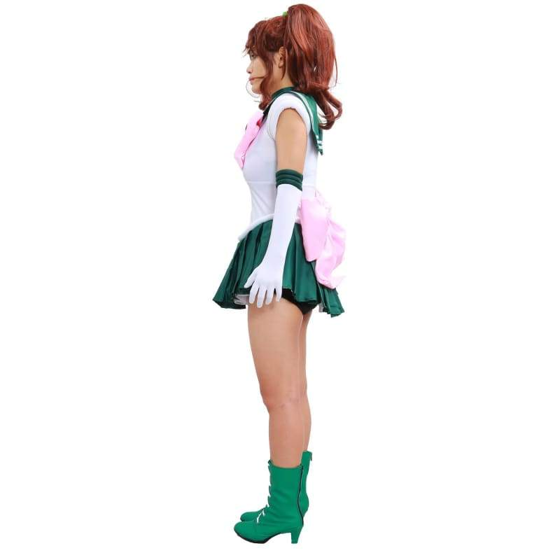 xcoser-de,Sailor Moon Sailor Jupiter Kino Makoto 1st Ver Fighting Cosplay Costume,Costumes