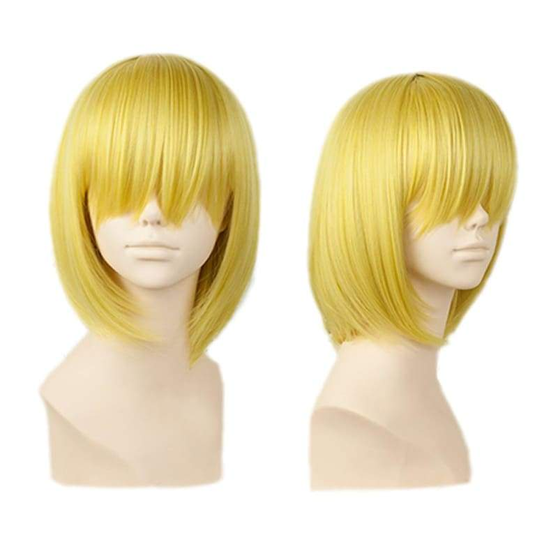 xcoser-de,Sanji Wig One Piece Sanji Short Straight Golden Blonde Halloween Party Wig With Free Wig Cap,Wigs