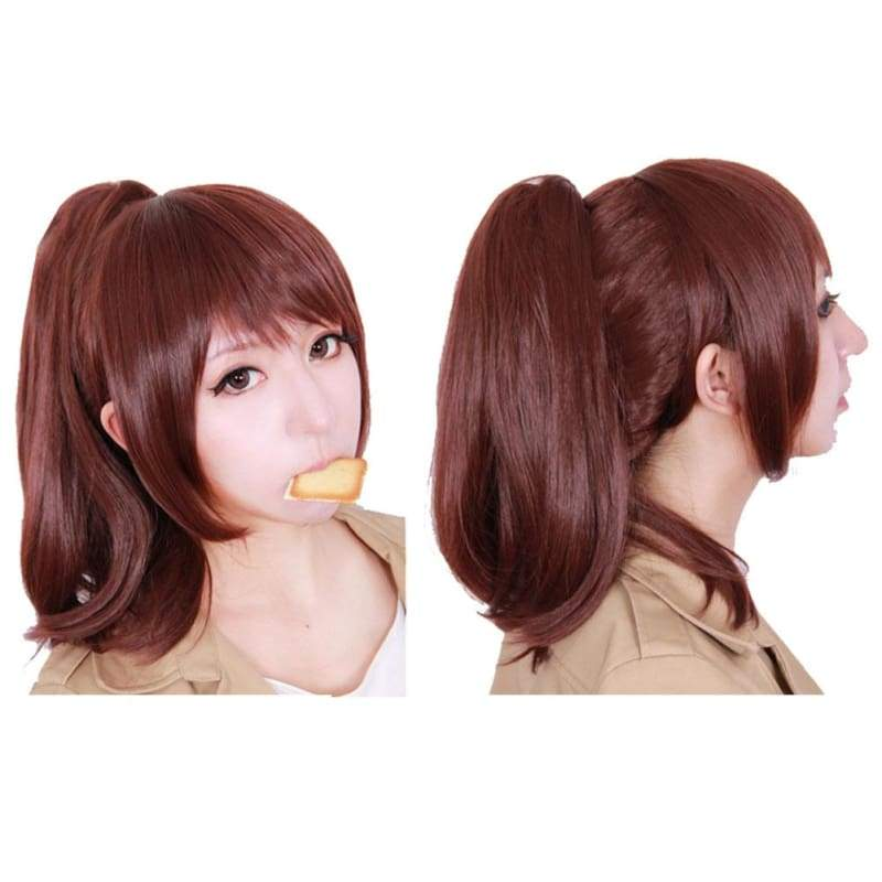 xcoser-de,Sasha Blouse Wig Attack On Titan Sasha Cosplay Long Brown Wig,Wigs