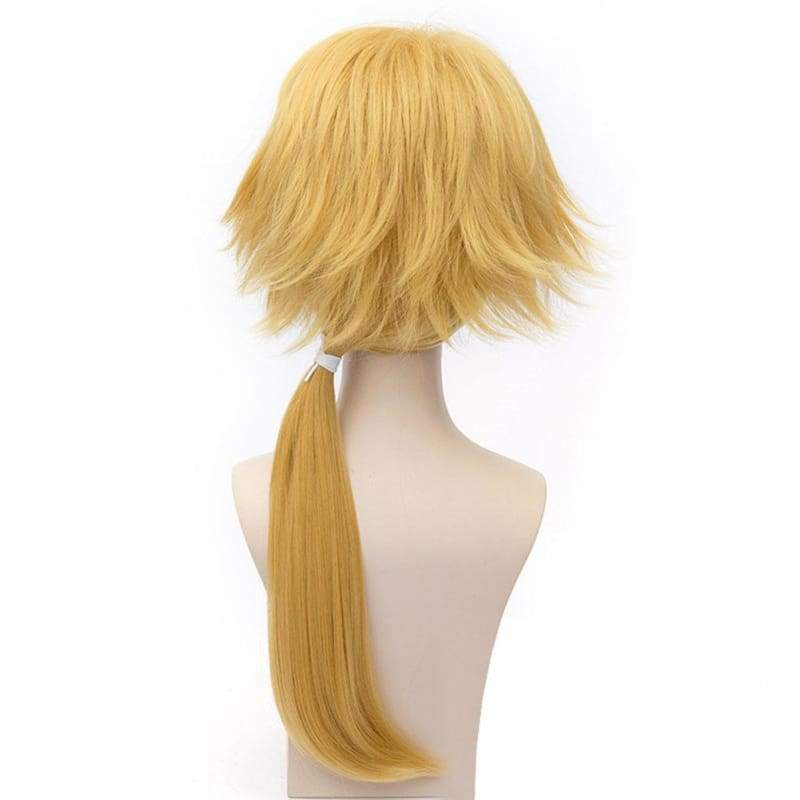 xcoser-de,Shishiou Wig Touken Ranbu Shishiou Cosplay Anime Long Golden Wig,Wigs