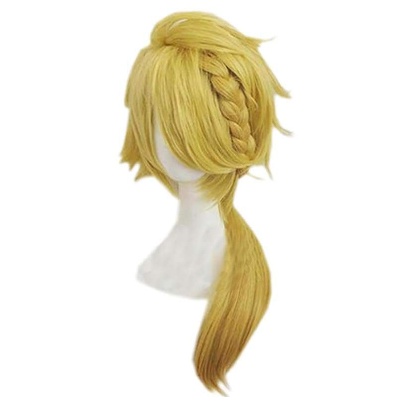 xcoser-de,Shishiou Wig Touken Ranbu Game Cosplay Golden Anime Wig With Braid,Wigs