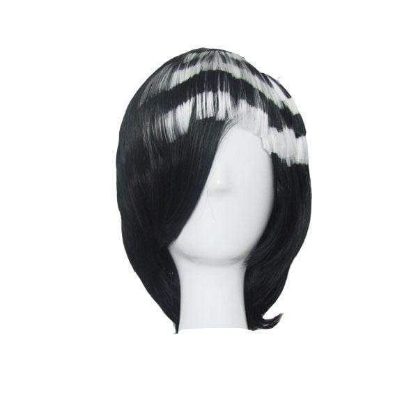 xcoser-de,Soul Eater Death The Kid Cosplay Prop Black with White Wig Party Hair,Wigs