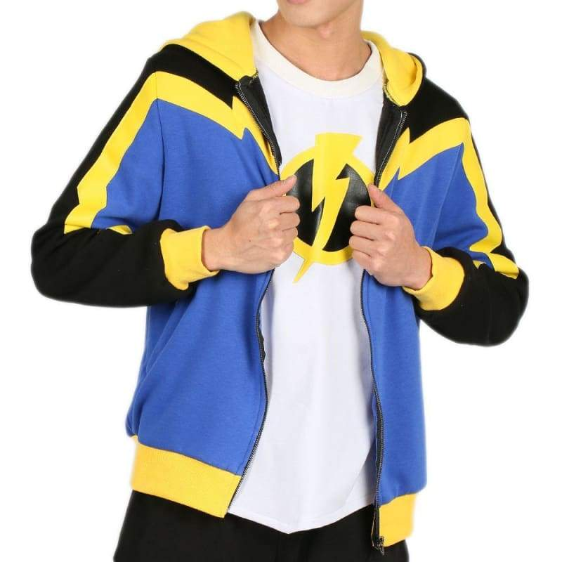 xcoser-de,Static Shock Hoodie Color Block Hooded Sweatshirt Static Cosplay Costume Sales 2018,Hoodies