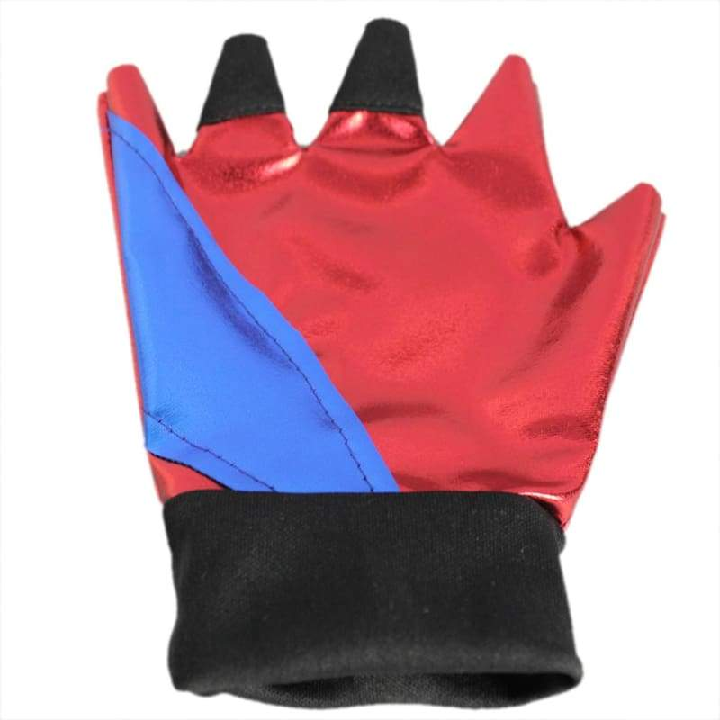 xcoser-de,Suicide Squad Harley Quinn Gloves Fashion Patent Leather Half Finger Gloves One Size,Props