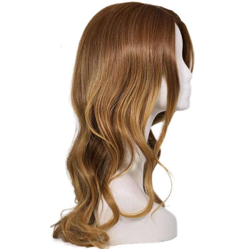 xcoser-de,Supergirl Wig Halloween Cosplay Costume Brown Long Curly Hair Accessories,Wigs