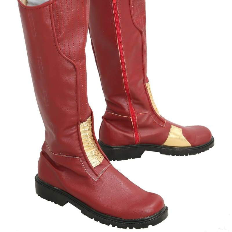 xcoser-de - The Flash Leather Cosplay Boots Adults Sale - Boots - Xcoser Costume