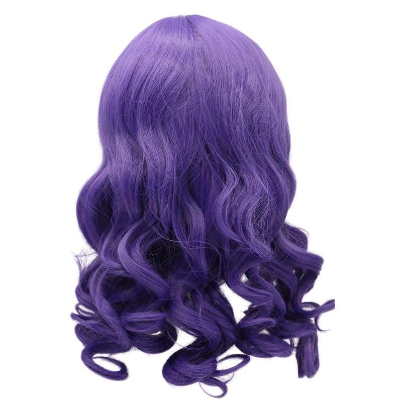 xcoser-de,The Isle of the Lost Mal Wig Cosplay Costume Purple Long Curly Wavy Hair Accessories,Wigs