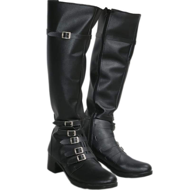 xcoser-de,The Movie Captain America 3 Scarlet Witch Boots Black PU Knee-high Boots for Cosplay Halloween Party,Boots