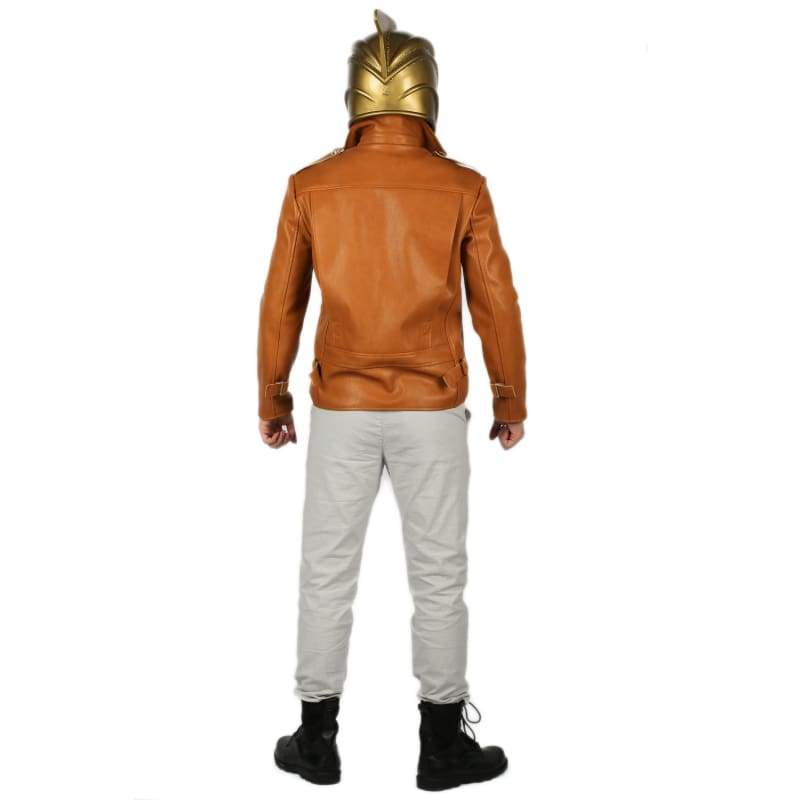 xcoser-de,The Rocketeer Cliff Secord Costume Deluxe Leather Jacket and Pants Cosplay Costume,Costumes